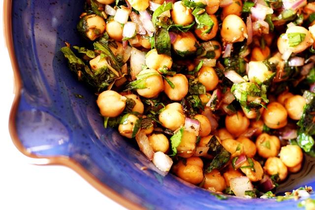 Chickpea Salad with Cumin Vinaigrette | Ilke's Kitchen